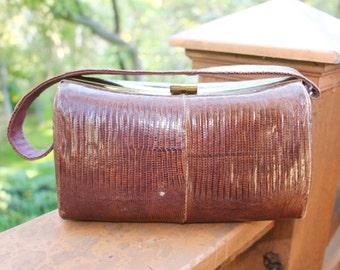 Vintage lizard purse