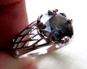 Sterling Silver Mystic Topaz Ring, size 10