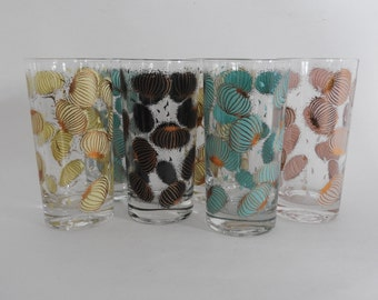 Mid Century Modern Fred Press Atomic Onion Tumblers // Mod Barware