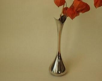 Silverplate Danish Modern Bud Vase