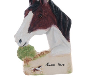 Horse Ornament personalized Christmas ornament for the horse lover in your life - made in the USA from resin - Personalized Ornament  (281)