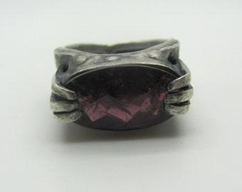 Tall Garnet Ring
