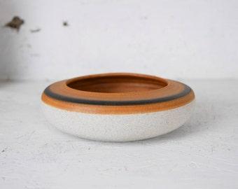 Vintage Color Blocked Ceramic Bowl