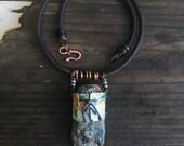 Kyanite pendant, Raw Stone pendant | Rough stone, raw stone, blue kyanite, large stone, gemstone jewelry, mineral necklace, blue stone