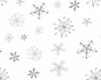 Camelot - Winter Wonderland - Snowflakes in White