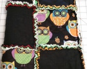 Owl baby rag quilt