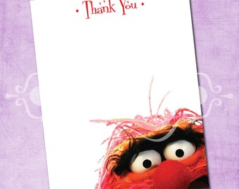 Animal from the Muppets Thank You Card
