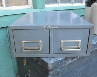 Industrial Index Card File Cabinet from New York City