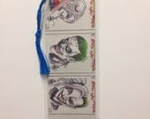 Upcycled Harley Quinn and Joker Comic Book Bookmark