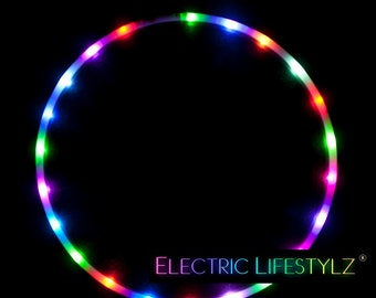 Daily Deal !! Color Changing LED Hula Hoop - Cotton Candy Rainbow - Free Shipping