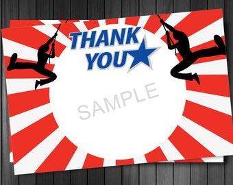American Ninja Thank you note, Printable, instant download