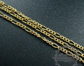 10cm 1.7mm plus 1.7x4mm 14K gold filled high quality color not tarnished figaro chain DIY necklace chain supplies findings 1315018
