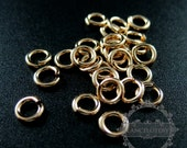 10pcs 18gauge 1.05x5mm 14K gold filled high quality color not tarnished jump ring DIY jewelry supplies findings jumpring 1545009
