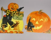 Vintage Halloween Cutouts in original waxed paper Stationery Store Advertising Envelope Two Sisters Estate Sale with Extras made in the USA