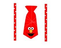 SVG - Elmo SVG - Elmo Onesie - New Baby - Onesie Svg - Sesame Street - Elmo - Suspenders Onesie - Suspenders SVG - Baby Shower Gift - Cricut