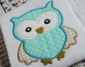 Appliqué Owl machine embroidery design, embroidery owl, appliqué owl embroidery design, instant download appliqué embroidery