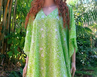 Green Kaftan, Cover up, Summer Dress