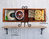 Personalized Home Decor - Letter Art Name Sign - Includes stand - Rustic, weathered custom gift - Personalized Anniversary. FrameYourName