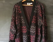 Vintage Brittany Bay Grandpa aztec cardigan sweater