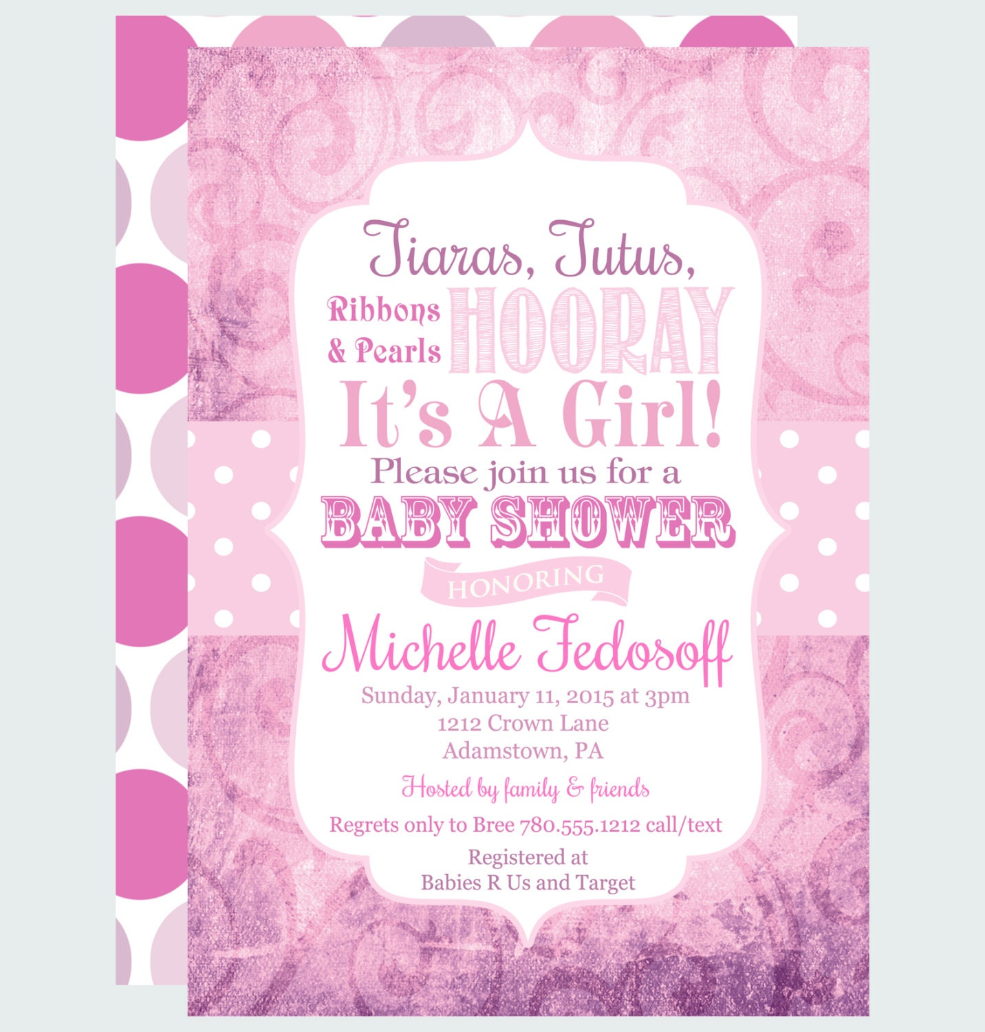 Damask Invitations was adorable invitation design