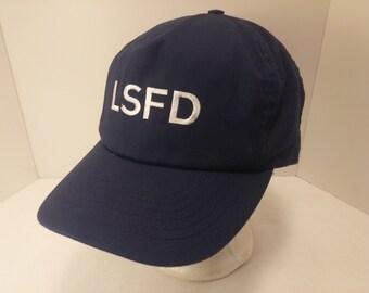 Vintage 1990s Trucker Ball Cap - LSFD Loveland-Symmes Fire Department - Firefighter, Hipster, Rockabilly, Retro, Men's Accessories