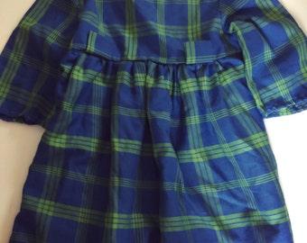 Vintage pretty plaid dress 3t