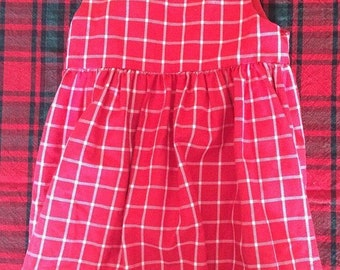 Vintage plaid jumper 4t