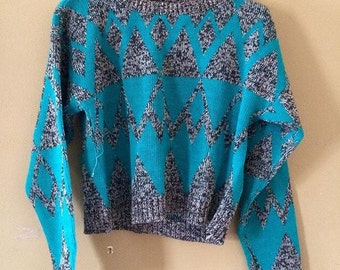 vintage eighties crop sweater 6x