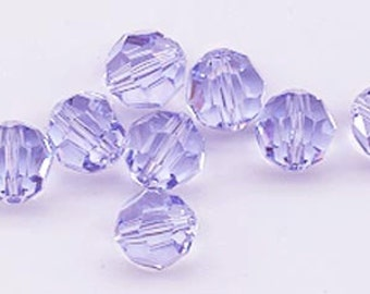 Twelve Swarovski crystals: art 5000 - 8 mm - provence lavender