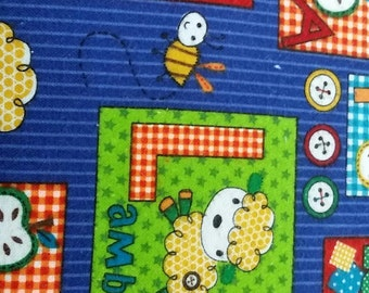 AE Abc's and Blocks Flannel Quilt Fabric  by the yard