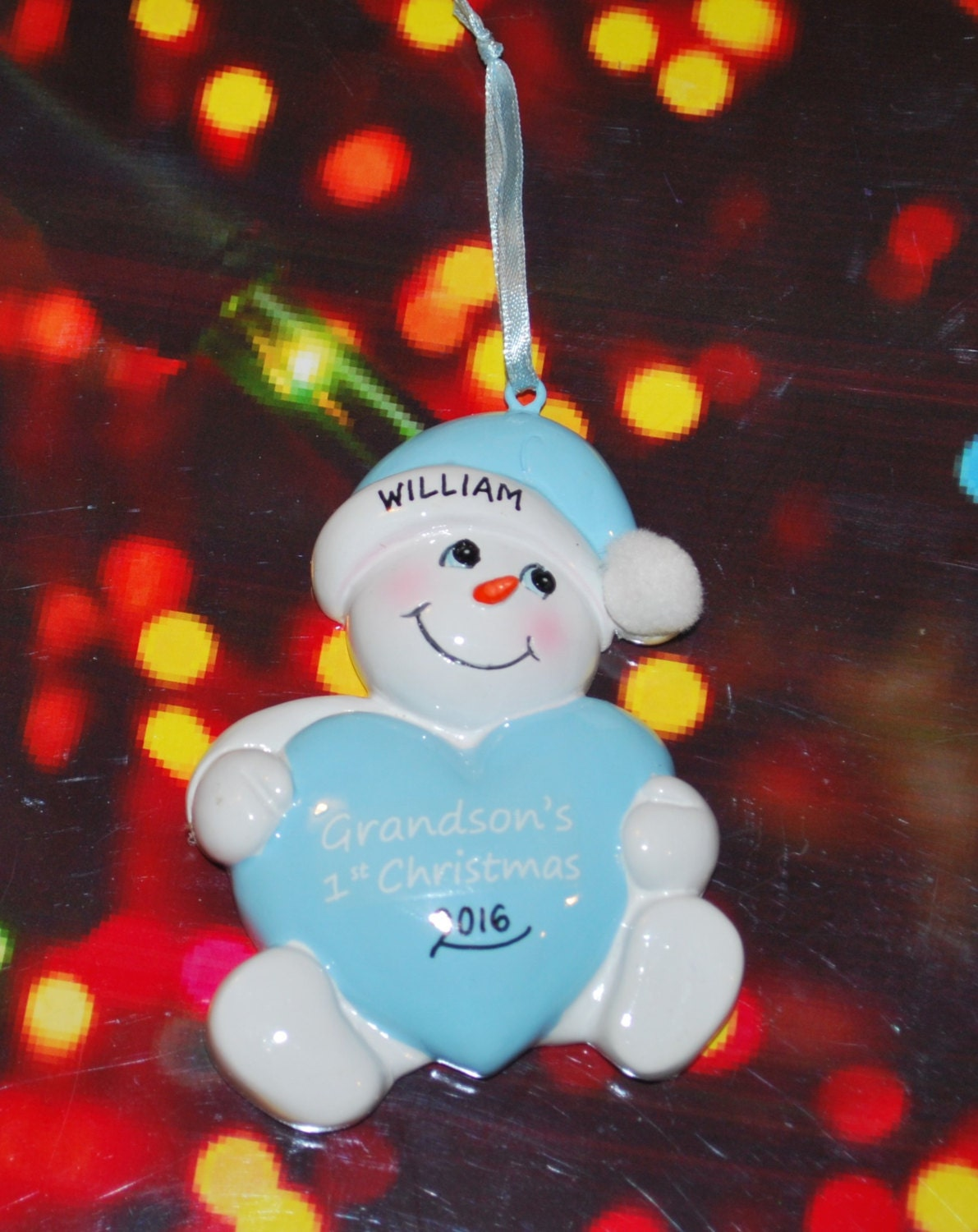 Grandson's First Christmas Snowbaby Ornament