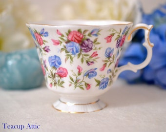 Royal Albert Replacement Teacup Nell Gwynne Series-Mayfair, English Bone China Tea Cup Only, Orphan Teacup, ca. 1960-1970