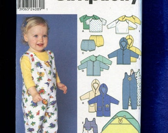 Simplicity 9275 Baby Play Clothes Pattern Size Preemie to 18 Months UNCUT