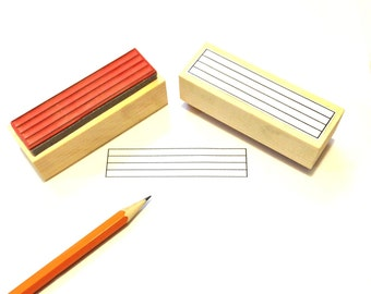 Large Blank Staff Rubber Stamp -    A great teacher and student aid. ( Musician, Music, Woodwind)