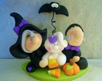 Witch - Frankenstein - Ghost - Bat - Polymer Clay - Figurines