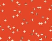 Mod Basics 3 - Wink in Tomato - Birch Organic Fabrics - MB3-01-TOMATO - 1/2 yd