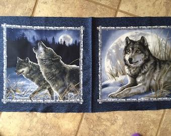 Wolf fabric panels