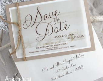 Save The Date, Beach Invitations, photo save the date