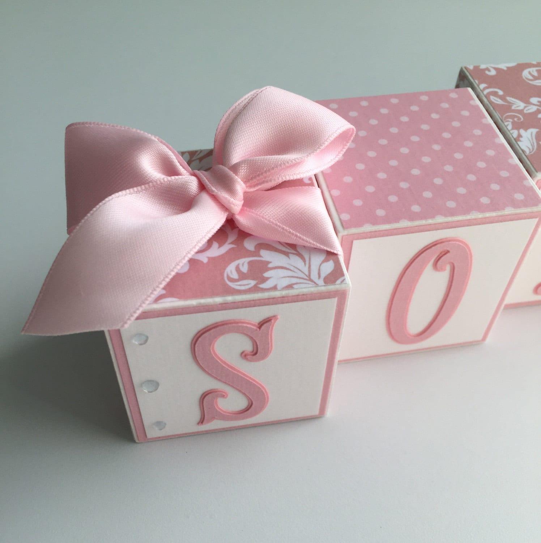 Baby Gift Name Blocks : Baby name blocks gift shower newborn nursery decor