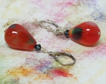 Red Watermelon Dangle Earrings