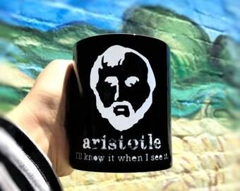 Philosophy Mug Quote Mug Aristotle Geekery Greek College Funny Novelty Humor 11oz