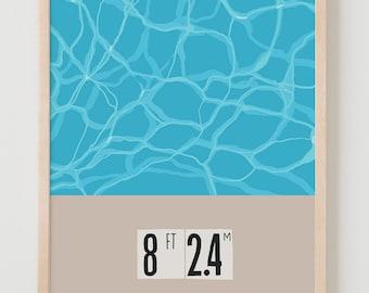 Fine Art Print.  Swimming Pool Deep End.  April 13, 2015.
