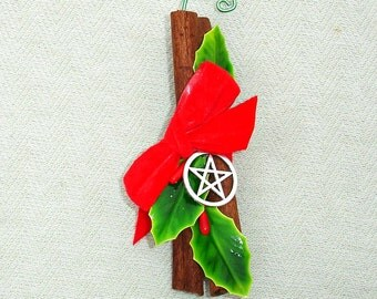 Cinnamon Holiday Ornament with Pentagram