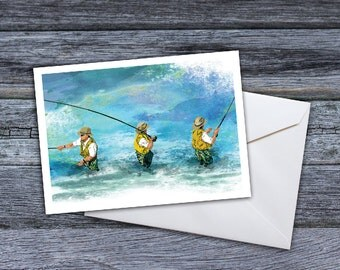 Fly Fishing  - Fishing Trio Greeting Card