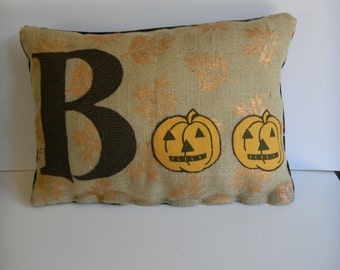 Boo Halloween Throw Pillow