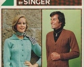 ON SALE ON Sale - Memo Matic Knitting Fashions Pattern No 47 by Singer for Men and Women - Vintage 1970s