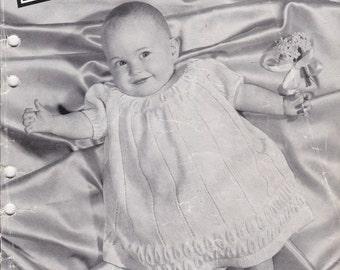 Villawool  Knitting Pattern No 51 For Children,  Babies  (Vintage 1940s) Original Pattern