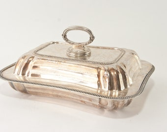 Vintage Silver Plated Serving Dish, Vintage Kitchen
