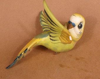 Unusual Large Cutesy Parakeet Budgie Figurine B-015