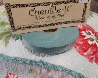 "Blooming Bias 5/8"" - Faux Chenille - by Chenille It - Jade - 1 Roll (40Yards)"